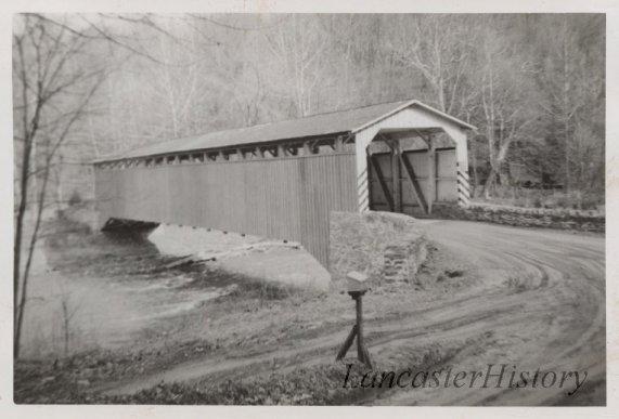 Colemanville Covered Bridge photo taken in 1950.