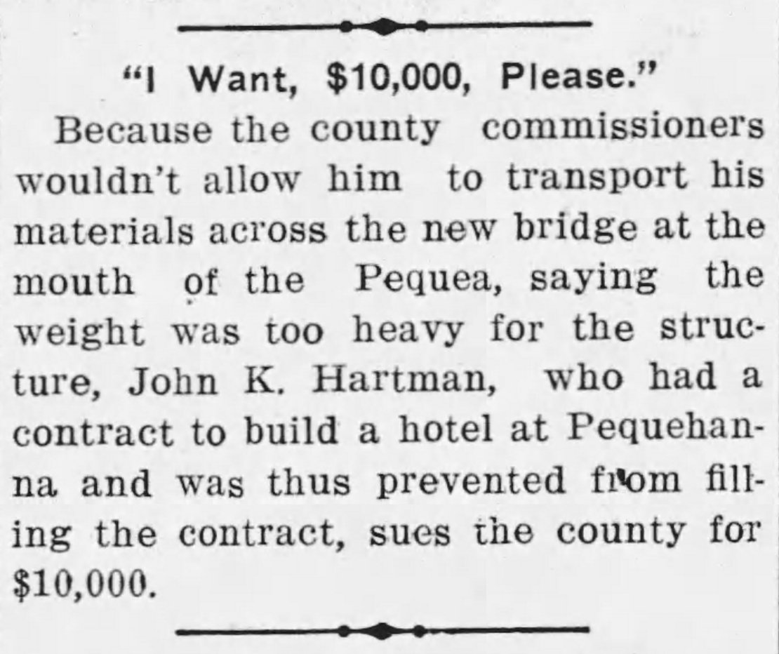 Article from the January 13, 1912 edition of The Inquirer.