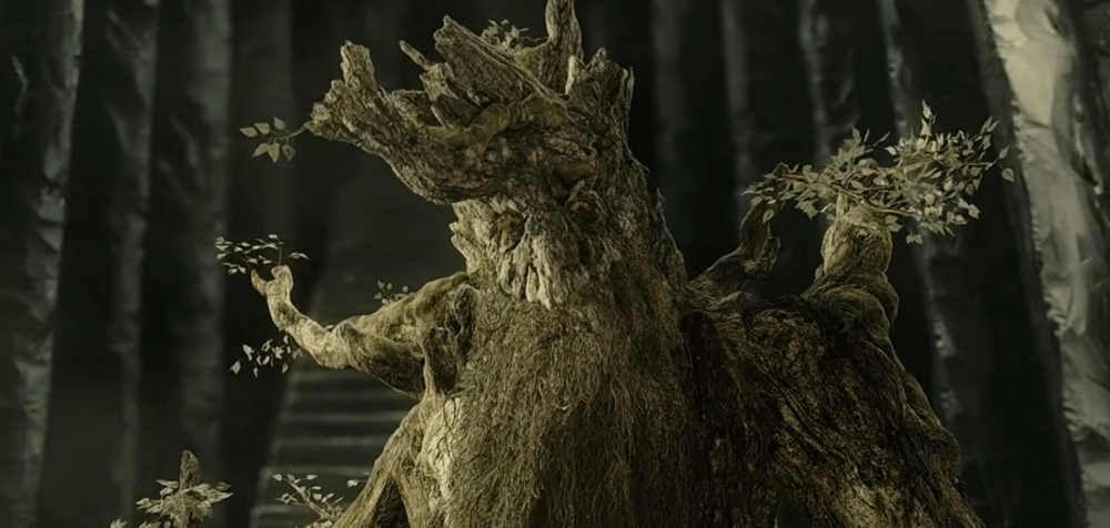 Treebeard, an Ent of Fangorn Forest from 'The Two Towers.'