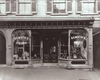The Demuth Tobacco Shop circa 1910