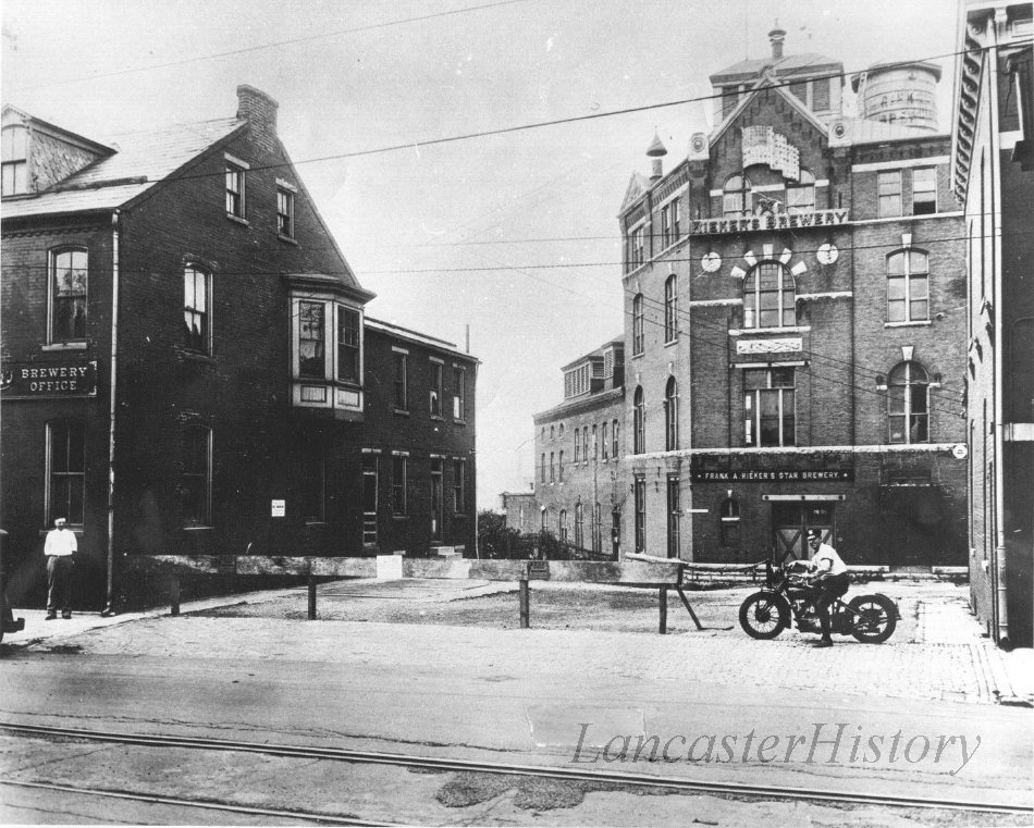 Rieker's Brewery, West King Street, south side, just west of Dorwart Street.