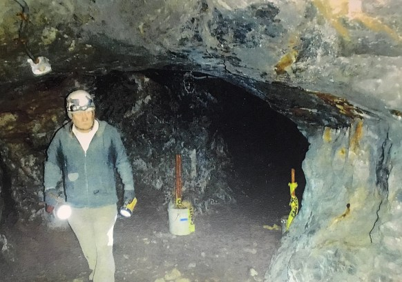 John Coolidge III in the mine. Image courtesy of CAHS.