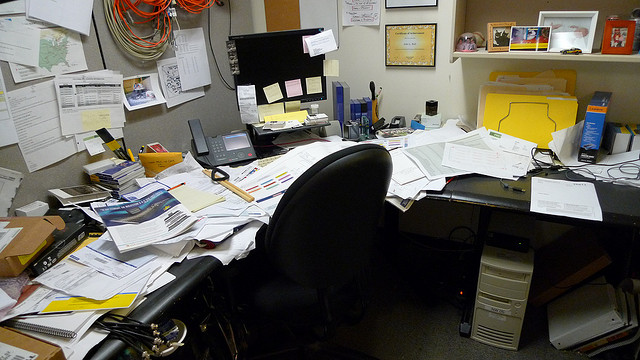 Image result for messy desk pictures