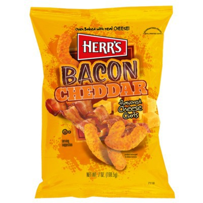 herrs bacon cheddar cheese curls chips 1