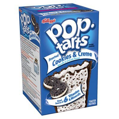 kelloggs pop tarts frosted cookies cream 1 2