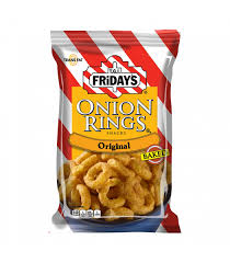 TGI Fridays Onion Rings Baked Snacks 2.75oz
