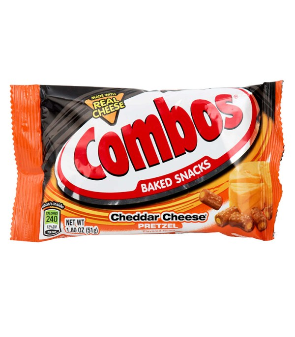 Combos Cheddar Cheese Cracker Pretzel To Go 51g