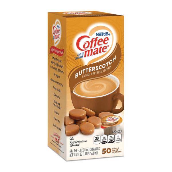 Box of Coffee Mate Butterscotch Creamer