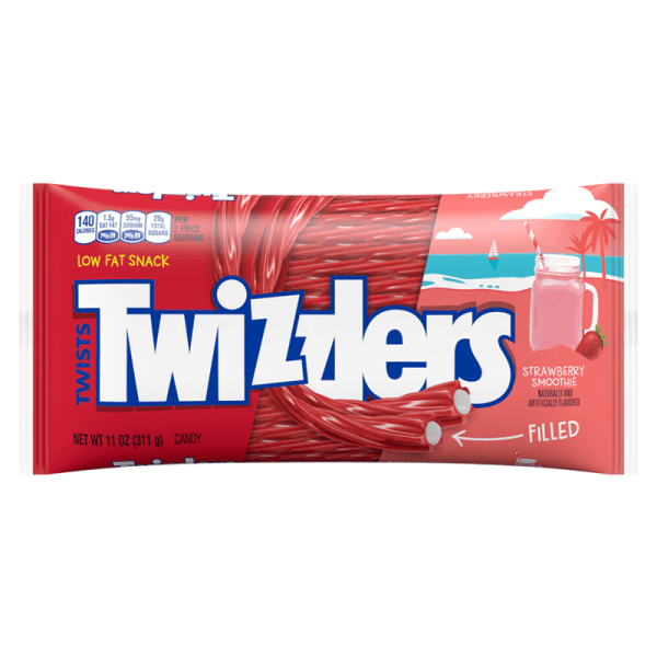 Pack of Twizzlers Limited Edition Strawberry Smoothie Filled Twists