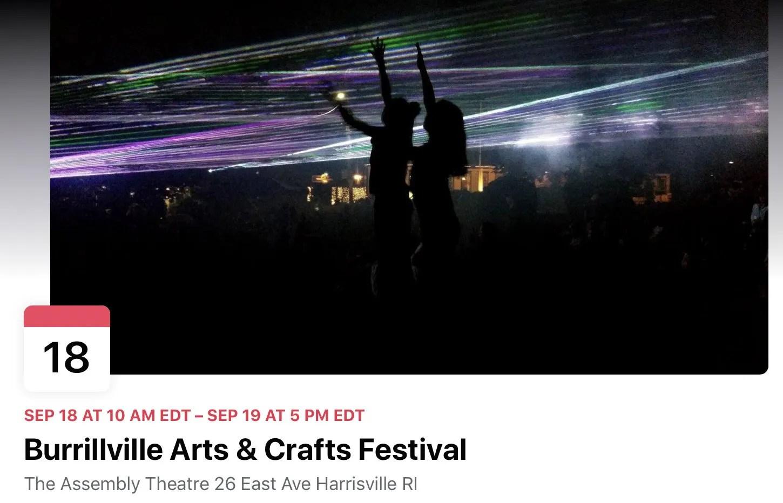 Burrillville arts & Crafts festival