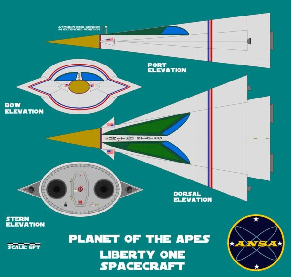 PLANET OF THE APES ICARUS SPACESHIP