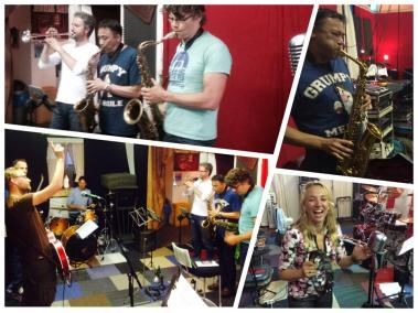 Repetitie met altsaxofonist Tiander