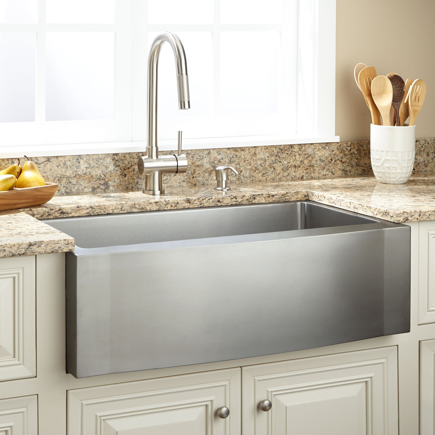 new 33 in single bowl kitchen sink stainless farmhouse on kitchens with farmhouse sinks id=86523