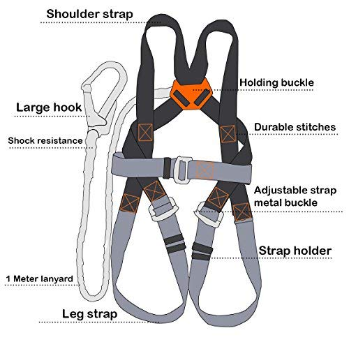 New Safety Harness Kit Amp Lanyard Basic D Ring Fall
