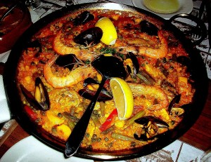 The night before, Kristi & I ate paella at El Centra in the RLD w/ Aussies Andrew & Rad.