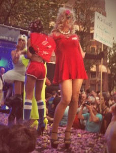 Divas from around the world will compete in the Stiletto Sprint, Handbag Toss and Bitch Volleyball at the Drag Queen Olympics.