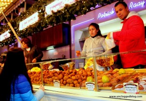 Oliebollen stands pop up throughout Amsterdam in winter.
