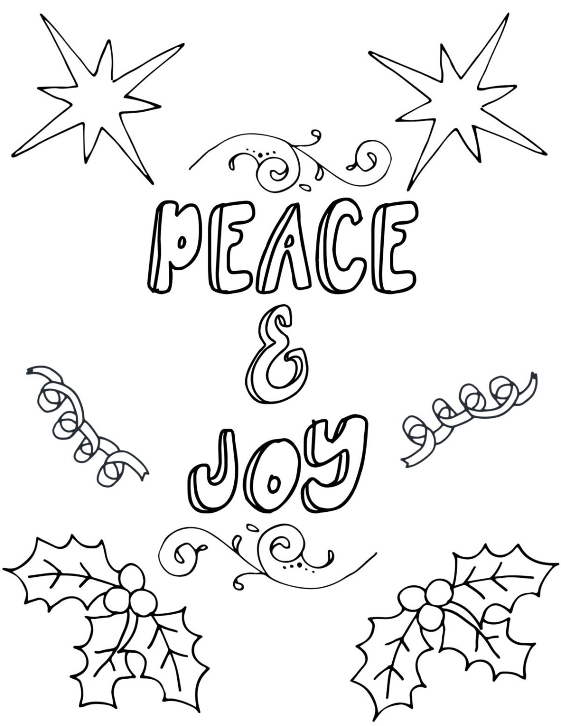 Free Printable Christmas Coloring Pages For Adults | free printable christmas coloring pages