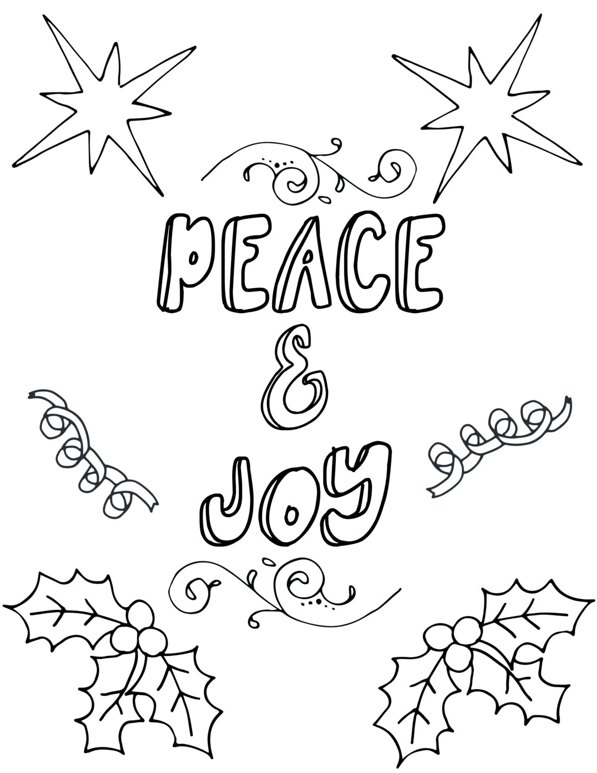 Free Printable Christmas Coloring Pages For Adults | christmas colouring pages for adults