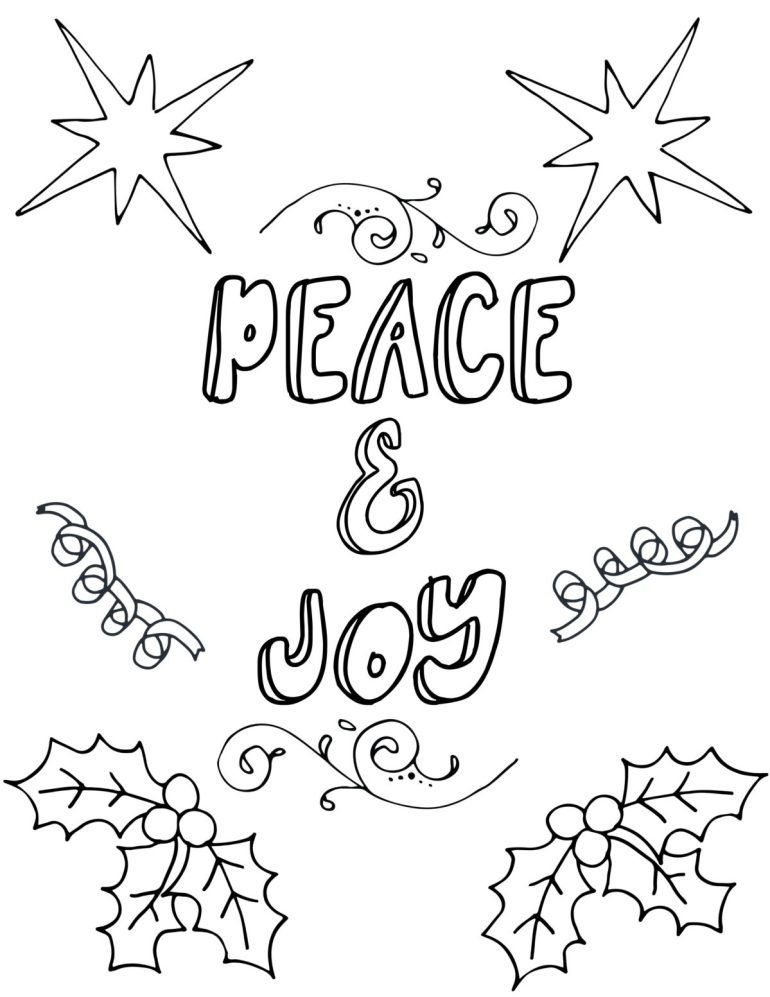Free Printable Christmas Coloring Pages For Adults   free printable christmas coloring pages for adults