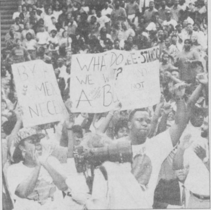 Spike Lee Rally for a free-standing Black Cultural Center, Black Ink, 10 February 1993, Page 5.