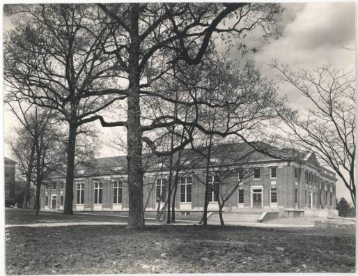 Lenoir Hall: Exterior, circa 1930s-1940s, in theUniversity of North Carolina at Chapel Hill Image Collection Collection #P0004, North Carolina Collection Photographic Archives, Wilson Library, The University of North Carolina at Chapel Hill.