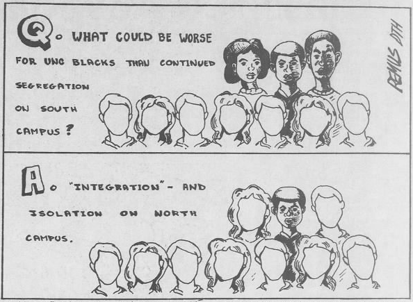 """Banks, Sherrod, """"Integrating some truth into the 'DTH',"""" The Daily Tar Heel, 4 December 1984, Page 8."""