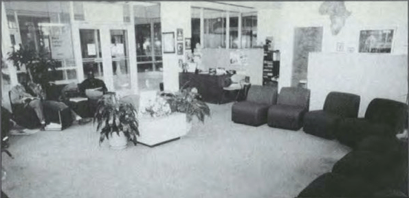 Interior of the Black Cultural Center, Carolina Alumni Review, Winter 1992, Page 26.