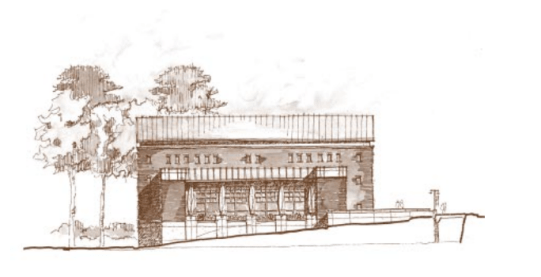 Architectural Drawing for the Stone Center, Grand Opening Celebration, Fall 2004 inthe Sonja Haynes Stone Center for Black Culture and History Records #40341, University Archives, Wilson Library, The University of North Carolina at Chapel Hill.