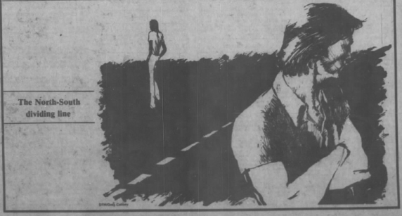 The North-South dividing line, The Daily Tar Heel, 6 November 1980, Page 8.