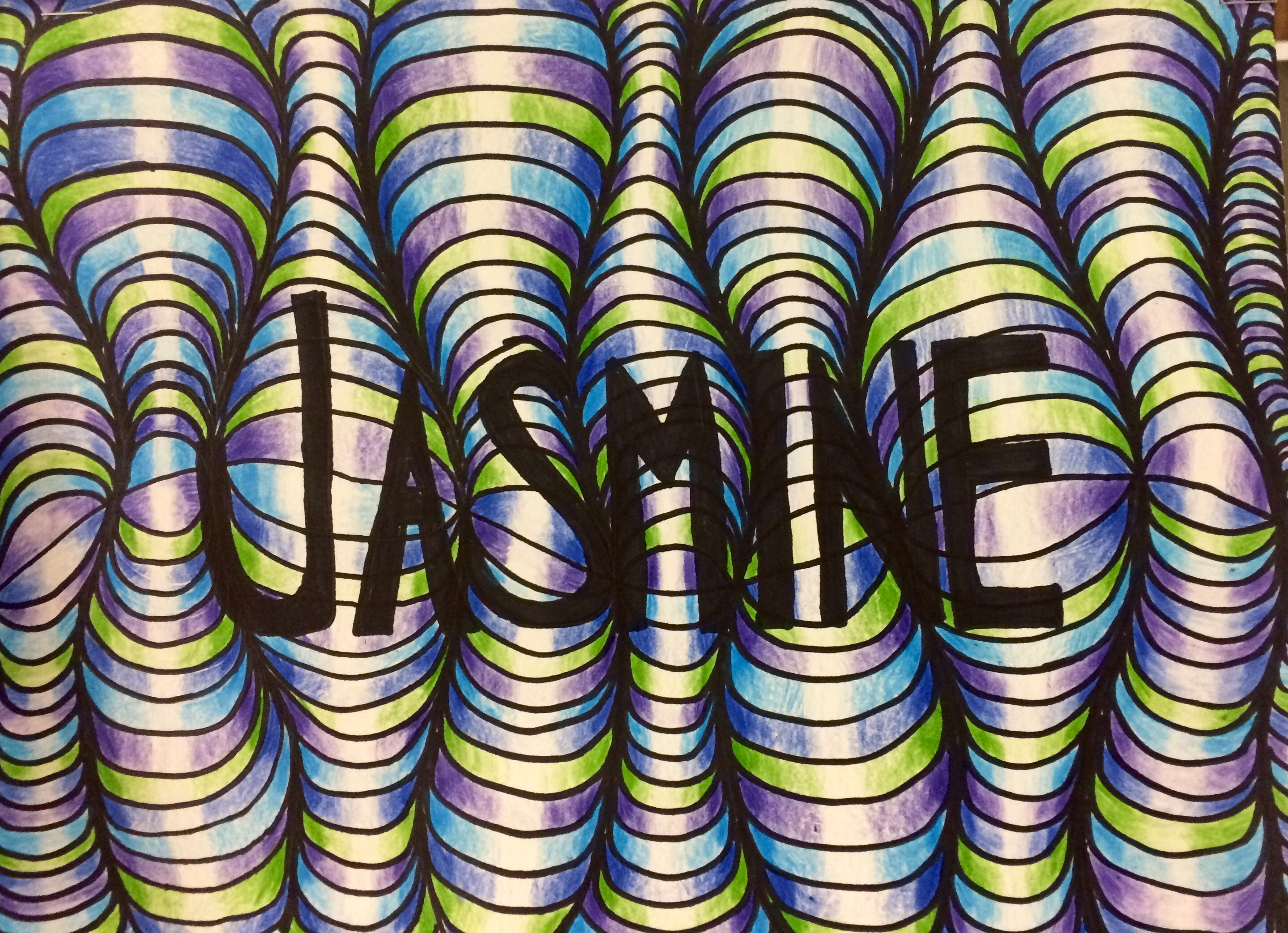 8th Grade Name Op Art