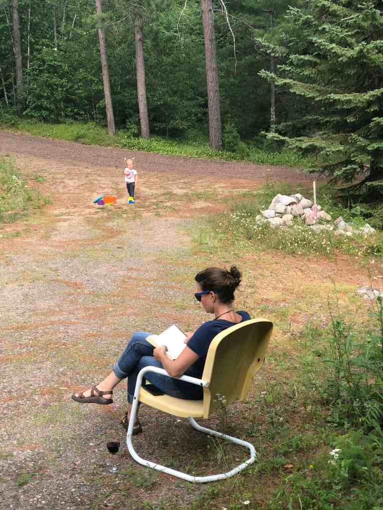 """My attempt at """"vacationing"""" while parenting. It lasted about 5 minutes."""