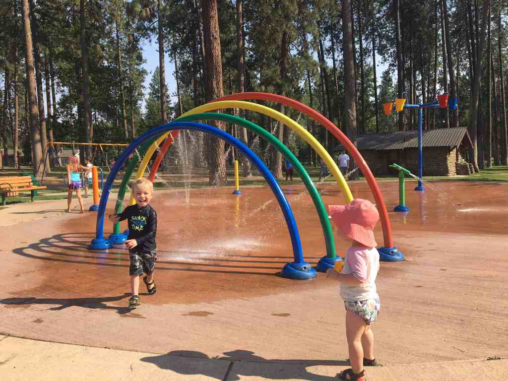 It was super hot in Spokane, so thank goodness for this local splashpad
