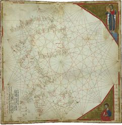 Atlantic map by Perrino Vesconte (1321). Public Domain (PD-US).