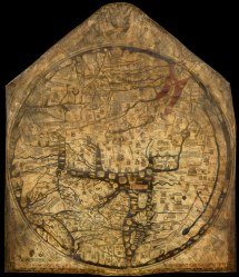 Hereford mappamundi. Public domain (PD-US).