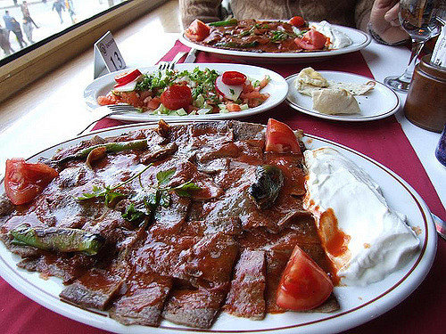 Turkish ískender kebab