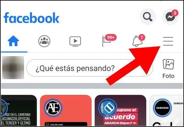 ajustes de la app de Facebook