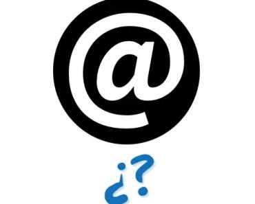 Por qué una dirección de correo electrónico lleva @