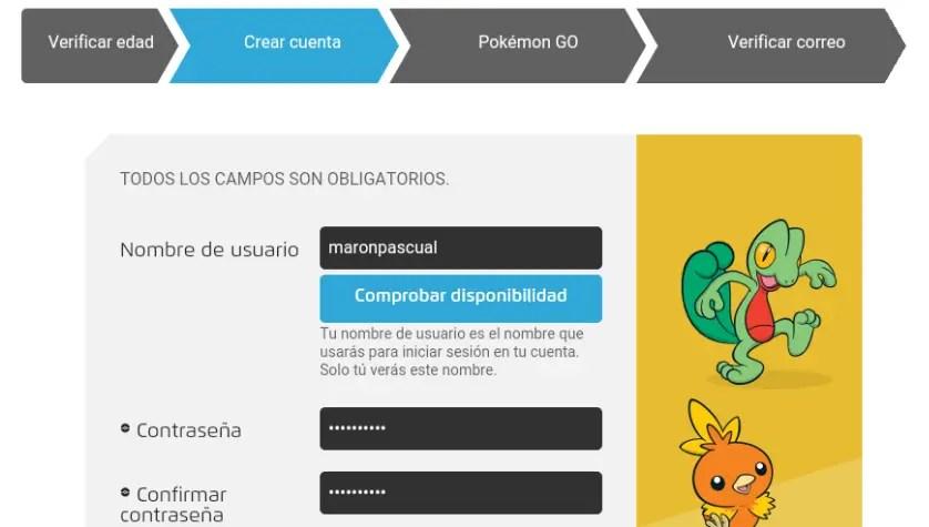 datos club de entrenadores Pokémon