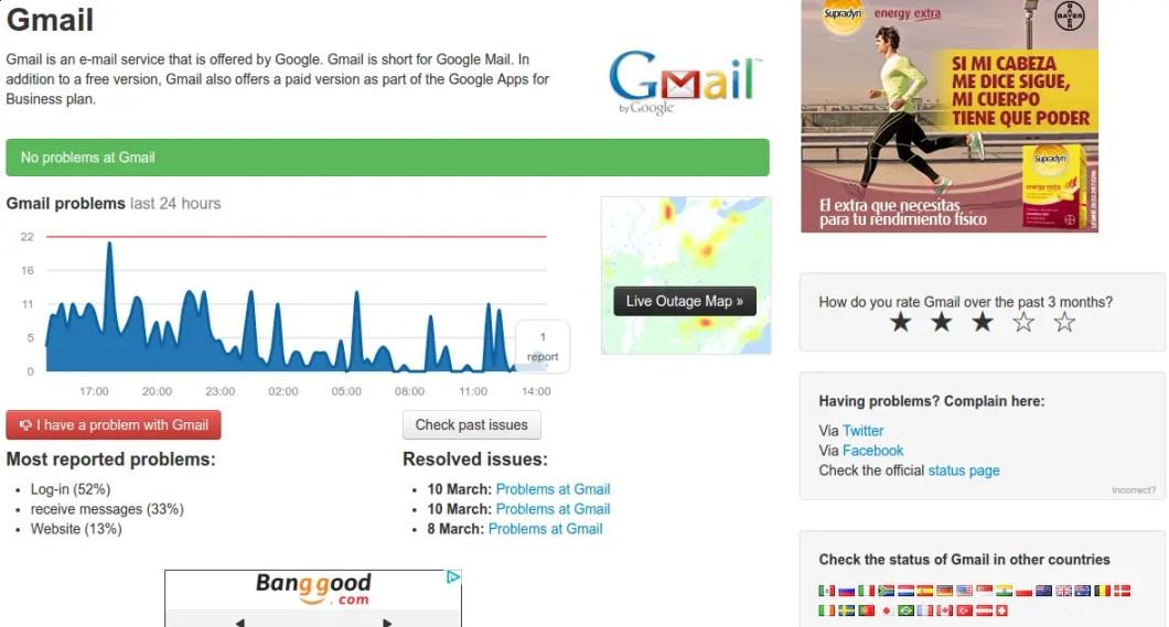 caidas gmail