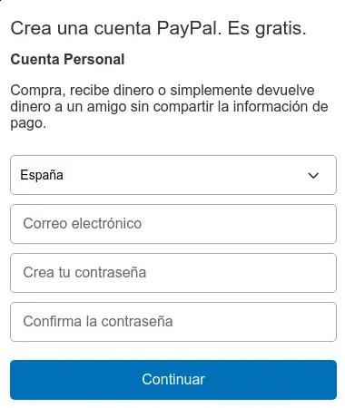 cuenta personal de PayPal