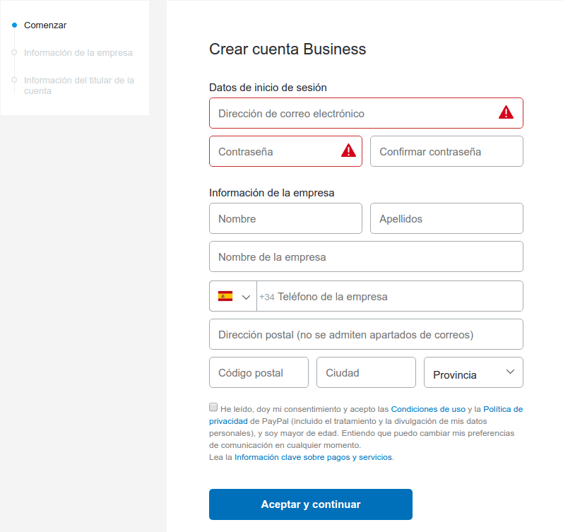 datos cuenta business