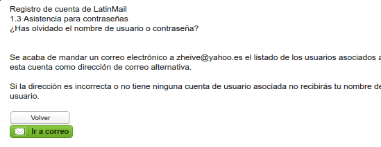 enviado correo alternativo