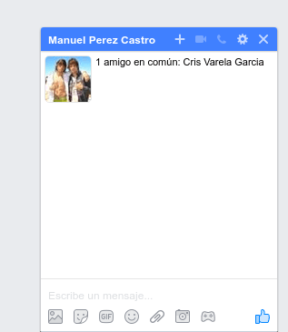 enviar inbox facebook