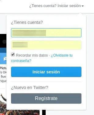 loguearse en Twitter