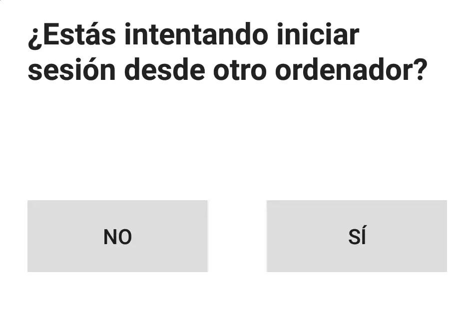 verificación de inicio de sesión en Android