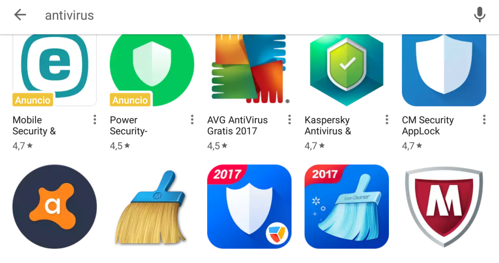 Antivirus Android de Play Store