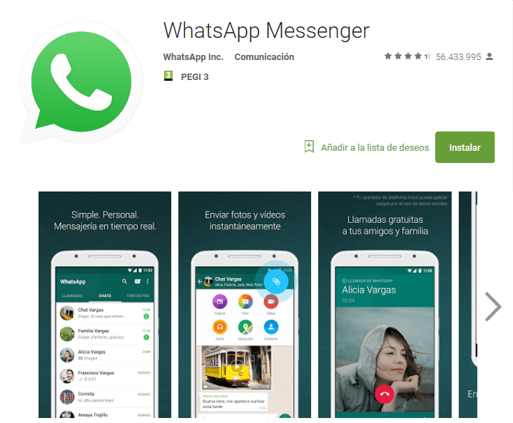 google play whatsapp