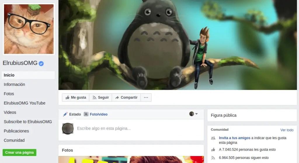 elrubiusomg en Facebook