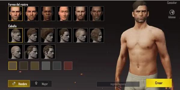 personalizar personaje de PUBG